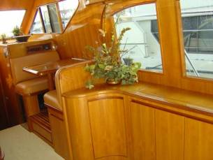 42 Sedan by Ocean Alexander  Starboard Salon Forward