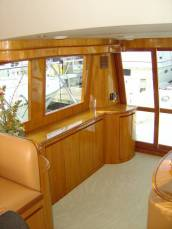 42 Sedan by Ocean Alexander  Starboard Salon Looking Aft