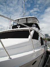 42 Sedan by Ocean Alexander Port Side View Aft