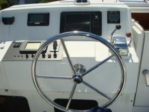 45' Symbol Pilothouse Trawler Flybridge Console