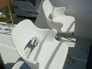 45' Symbol Pilothouse Trawler Flybridge Helm Seats