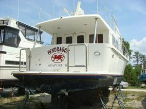 45' Symbol Pilothouse Trawler Hauled Aft Profile