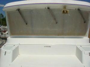 45' Symbol Pilothouse Trawler Foredeck looking aft