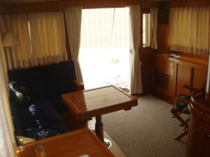 45' Symbol Pilothouse Trawler  Salon Aft View
