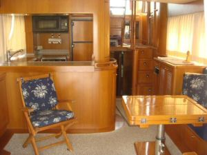45' Symbol Pilothouse Trawler Salon Forward