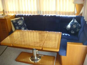 45' Symbol Pilothouse Trawler Salon Starboard Seating