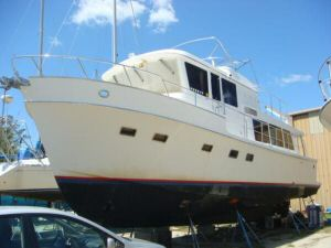 45' Symbol Pilothouse Trawler  Port Forward Profile
