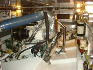 45' Symbol Pilothouse Trawler  Engine Room Forward