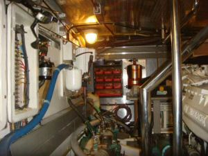 45' Symbol Pilothouse Trawler Engine Room Port