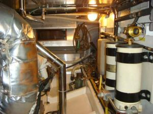 45' Symbol Pilothouse Trawler Engine Room Starboard