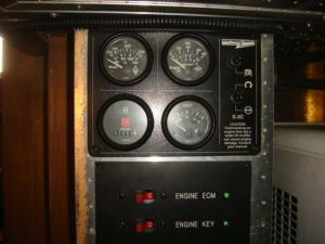 45' Symbol Pilothouse Trawler Generator Panel