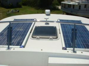 45' Symbol Pilothouse Trawler Solar Panels