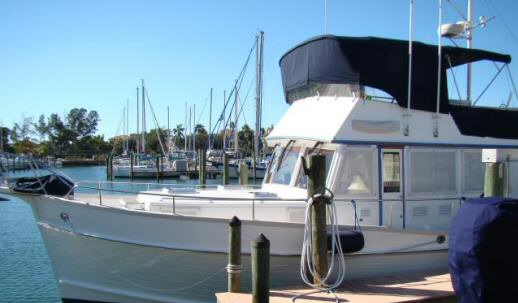 46' Grand Banks Classic Port Bow View