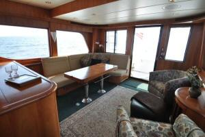 56' Symbol 54 Pilothouse Saloon looking aft