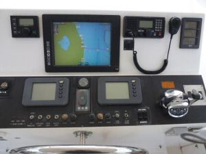 58' Symbol PIlothouse Flybridge Helm Dash