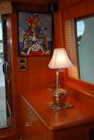 Symbol 59 Classic Pilothouse  Salon Cabinetry with Wine Cooler