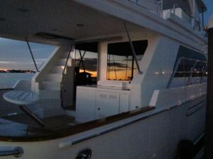 Ocean Alexander 64 Cockpit at Sunset