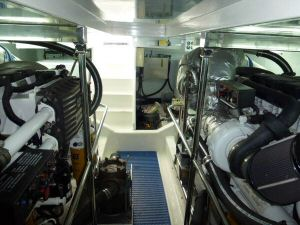 Ocean Alexander 64 Engine Room Aft