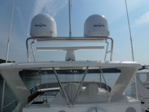 Ocean Alexander 64 Flybridge Arch Radar and Domes