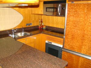 Ocean Alexander Galley  Pilothouse Starboard Aft