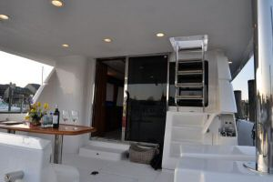 68' Symbol Pilothouse Motoryacht Aft Deck Forward with 3rd station controls