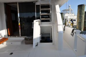 68' Symbol Pilothouse Motoryacht Engine Room Entry from Aft Deck