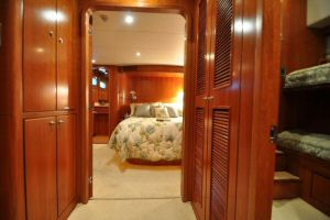 68' Symbol Pilothouse Motoryacht Foyer Looking Aft to Master Stateroom
