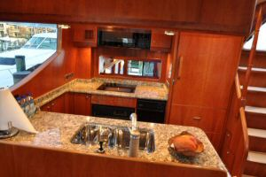 68' Symbol Pilothouse Motoryacht Galley