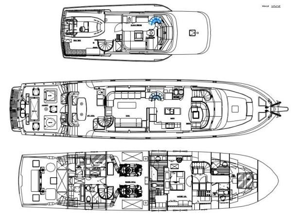 85' Symbol Yachtfisher 2010  Layout