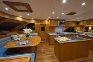 85' Symbol Yachtfisher 2010  Galley & Settee